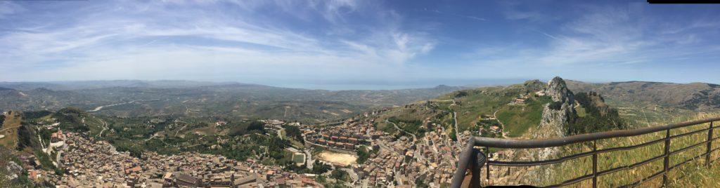 Caltabellotta - Foto panoramica dal castello