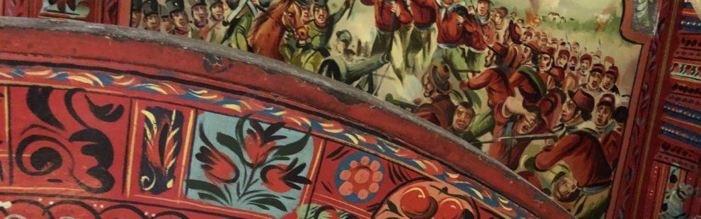 Dettaglio carretto siciliano con Garibaldi a Calatafimi