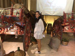 Visita all'esposizione dei carretti siciliani di Marcello La Scala
