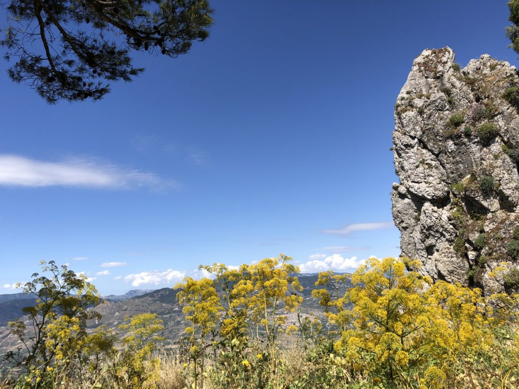 Caltabellotta - Vista verso Nord e Ferla in fiore